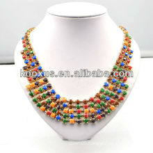 Fashion bead jewelry colorful bead necklace