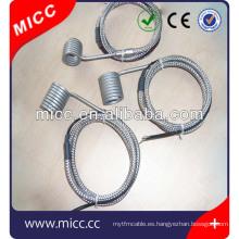 Moldeado por inyección de alta densidad calentadores de bobina eléctrica de alta densidad
