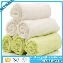 Toalhas de banho do bebê (conjunto de 6) Toalhas de banho de bambu orgânico 100% para o bebê 10 x 10 polegadas