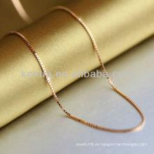 Plata plateada 925 cadena de la plata esterlina 2014 cadena de la plata de la manera