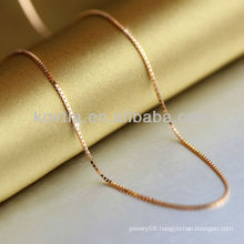 Plated gold 925 sterling silver chain 2014 fashion silver chain