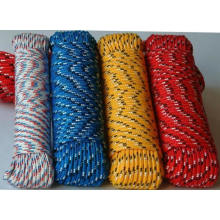 Low elastic polyester braided string