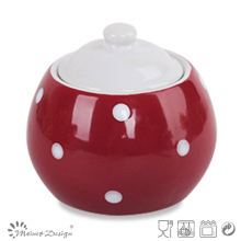8cm Ceramic Sugar Pot with Dots Cute and Lovely Wholesale