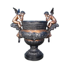 Vaso in ottone antico Casa getto decorativo
