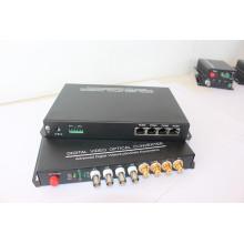 4 Kanal Video +4 Kanal Audio 1 Kanal Rückwärts RS232 / 422/485 Optischer Faser Transceiver