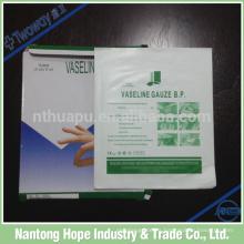 Paño de gasa de parafina médica que se empaqueta individualmente