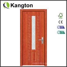 Ucrania / Rumania Diseño de puerta de madera de PVC (puerta de PVC)