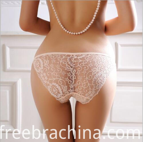white sheer lace thong