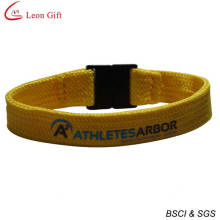 Polyester Tubular Wristband with Safety Clip (LM1490)