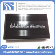 "Aluminium alloy USB 2.0 SATA 3.5"" External Hard Drive Enclosure"