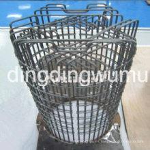 Jaula de barras de tungsteno puro elemento de calefacción de zafiro solo crecimiento horno de vacío