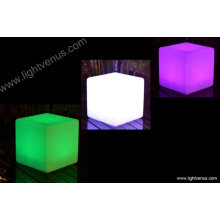 30 cm /multi color changing/waterproof/reasonable price/factory direct sale rechargeable outdoor led cube lighting chair