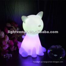 Novidade Luz! Luz da noite de mesa multicolor LED mudando
