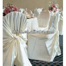 couverture de chaise de mariage en gros de qualité supérieure, couverture de chaise de mariée universel pas cher, couverture de chaise de satin emballage automatique liée