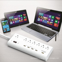 7 AC Us Plug Outlets 5 портов USB Power Strip Charger