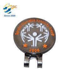 Personalizado de fábrica Barato Personalizado Magnética Bola De Golfe Marcador Por Atacado de Golfe Chapéu Clipe