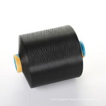 huaerli 100% dope dyed black DDB 300d 96f dty polyester yarn