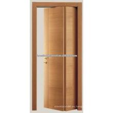 Cereza talla madera Bifold puerta, puerta de la habitación