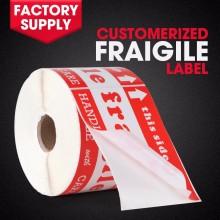 Custom print fragile shipping label adhesive warning sticker