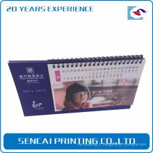 Calendrier de bureau promotionnel d'impression de papier spécial impression de papier coloré