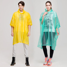 Durable Mens Green PVC Rain Poncho
