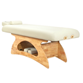 Sturdy wooden massage table