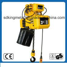 Elevador eléctrico de cadena de 3 toneladas con Trollry con control inalámbrico
