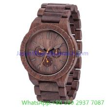 Reloj de cuarzo multifuncional de alta calidad de los relojes de madera 2016 (Hl-Ja 15023)