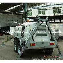 H1000 Serie mit 15kVA Ynd485 Mobile Light Tower Generator Set / Diesel Generator