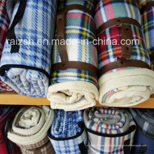 100% Polyester Fleece Decke Tragbare Roll-up Picknick Decke