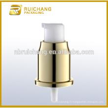 Pompe à lotion en aluminium / pompe à crème en aluminium de 20 mm avec surcapsule en aluminium