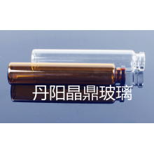 1ml Tubular Amber Mini Glass Vial for Cosmetic Packing