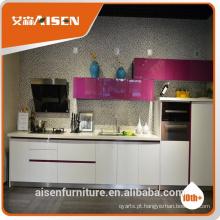 Hangzhou fatory baixo preço por atacado modernos armários de cozinha (MDF, MFC, flat pack)