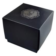 Ribbon decoration black jewelry box