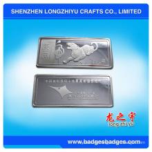 Großhandelssilber überzogene Metallmünze für Sammlung