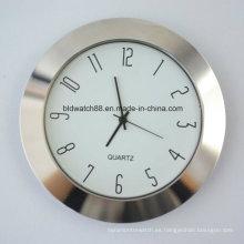 El reloj pequeño del movimiento de Japón 65m m inserta la cubierta del metal
