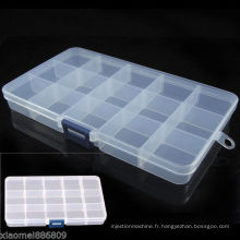 Moule de boîte à outils réglable en plastique à 15 fentes