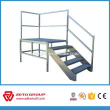 Échelle de plate-forme en aluminium d'OEM de fabrication, échelle de plate-forme se pliante, escalier en aluminium