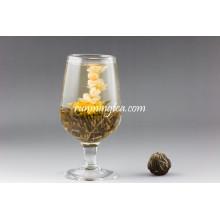 Bolas de chá de florescência pretas de beleza oriental