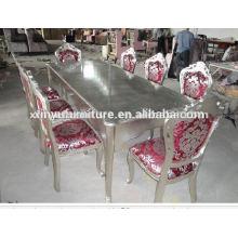 1 + 8 cadeira Mesa e mesa clássica de jantar D1040