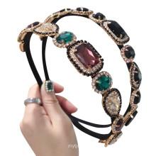 Bandeau cheveux  Rhinestone Alloy Headband Luxury Hair Accessories Korean Baroque Wedding Hairband Vintage for Women