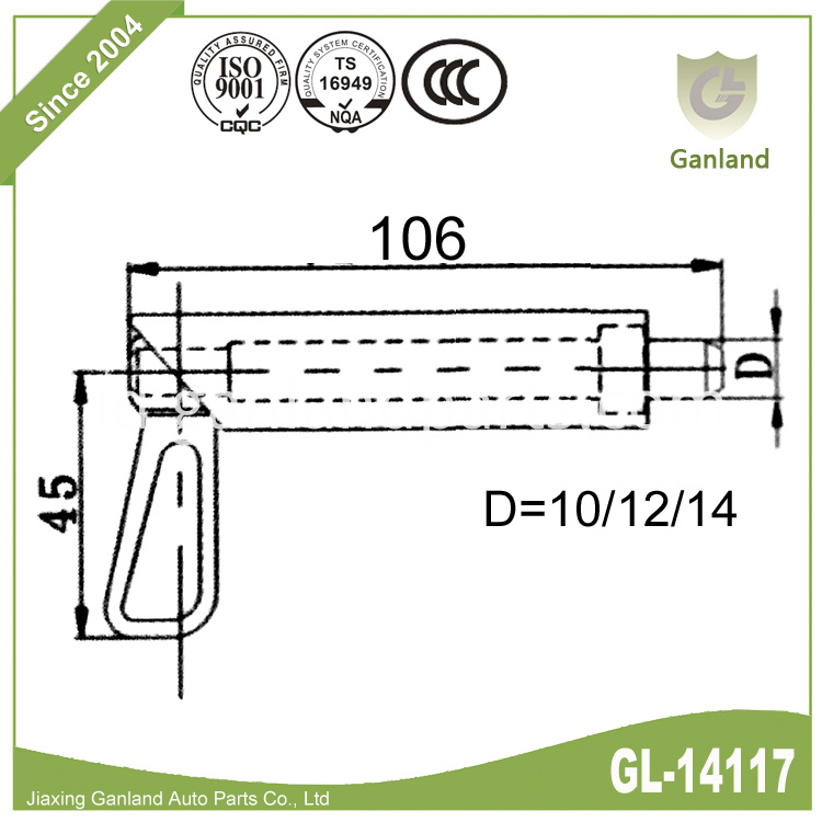 Barrel Shoot Bolt Spring Loaded GL-14117
