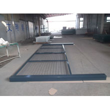 Puerta de cerca de malla de hierro revestida de PVC