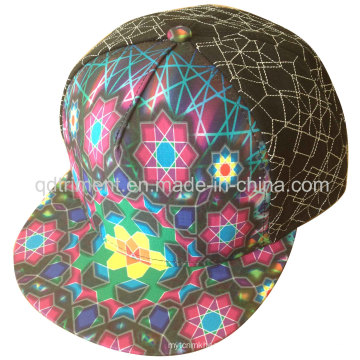 Sublimation Print Flat Bill Snap Back Baseball Cap (TMFL0526)