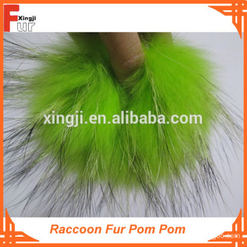 Superior Quality Dyed Raccoon Fur Pom Pom