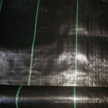 Esteira tecida PP preta da barreira da erva daninha para o uso do jardim da agricultura