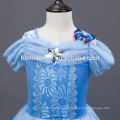 2016 new fashion Light blue color movie cosplay child princess dress wholesale