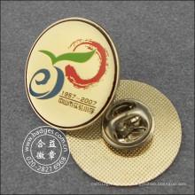 Золотой штырь отворотом, изготовленный на заказ значок сувенира (GZHY-ЛВ-006)
