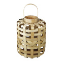 Large wide bamboo weaving storm lantern