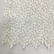 White Poly Milky Yarn Chemical Lace Embroidery Fabric